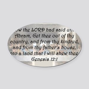 Genesis 12:1 Oval Car Magnet