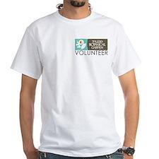 """Men's White """"Volunteer"""" T-Shirt"""