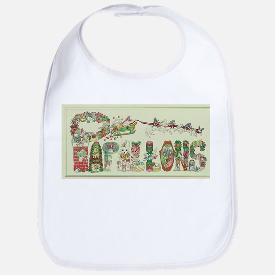 Christmas Papillons and Phalenes Bib