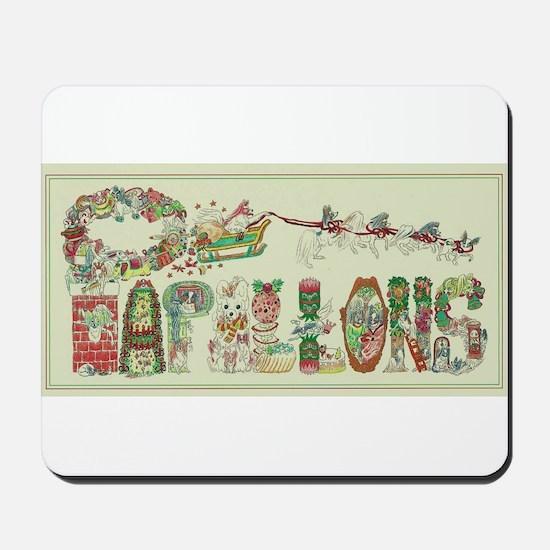 Christmas Papillons and Phalenes Mousepad