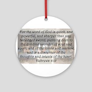Hebrews 4:12 Round Ornament