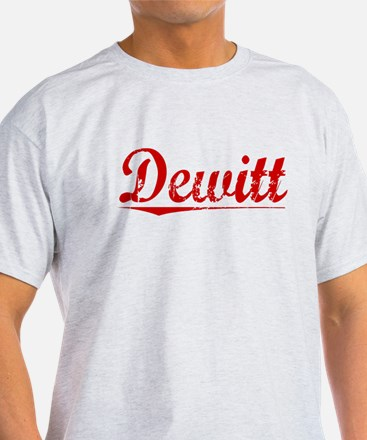 Dewitt, Vintage Red T-Shirt