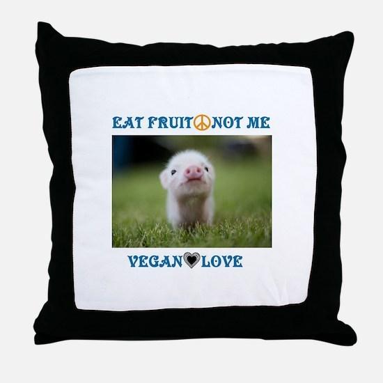 Vegan Love Throw Pillow