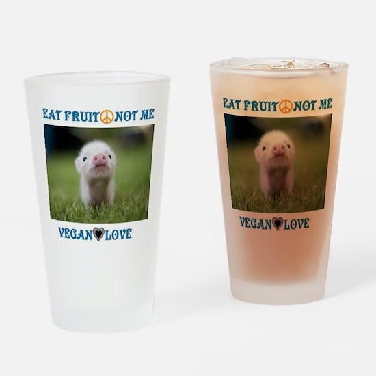 Vegan Love Drinking Glass