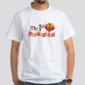 My 1st Thanksgiving White T-Shirt