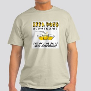 Beer Pong Strategist Light T-Shirt
