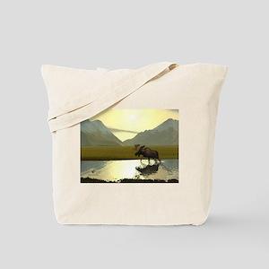 Afternoon Moose Tote Bag