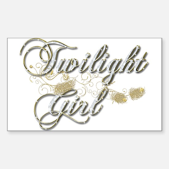 Twilight Girl Sticker (Rectangle)