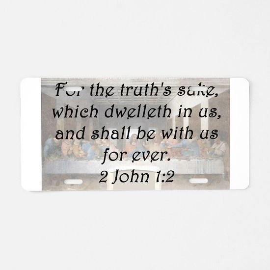 2 John 1-2 Aluminum License Plate