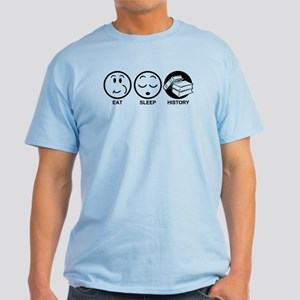 Eat Sleep History Light T-Shirt
