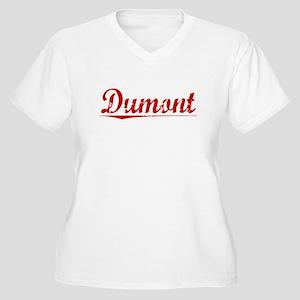 Dumont, Vintage Red Women's Plus Size V-Neck T-Shi