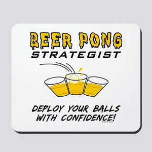 Beer Pong Strategist Mousepad