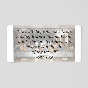 John 1:29 Aluminum License Plate