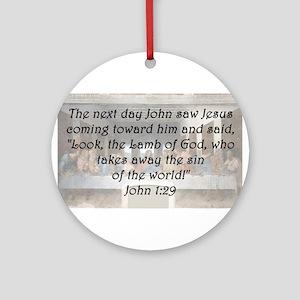 John 1:29 Round Ornament