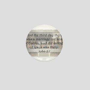 John 2:1 Mini Button