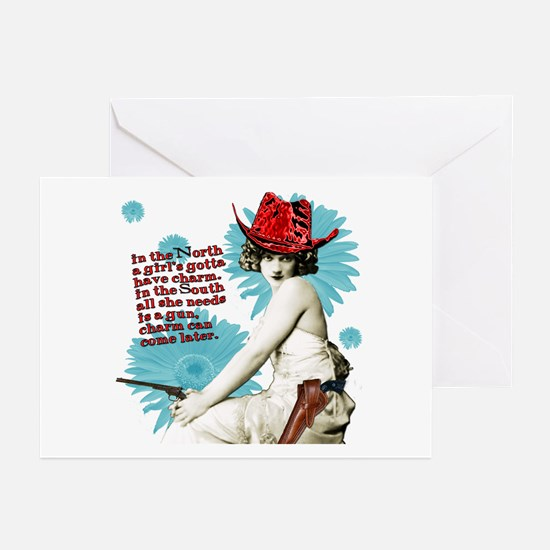 Divas D'Este Wild West Charm Greeting Cards -Pkg/6
