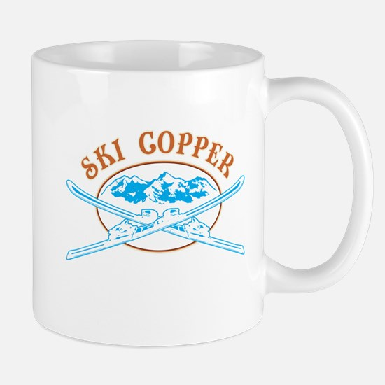 Copper Crossed-Skis Badge Mug