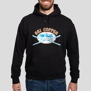 Copper Crossed-Skis Badge Hoodie (dark)