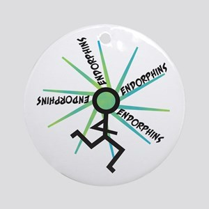 Funny Runner Endorphins Ornament (Round)