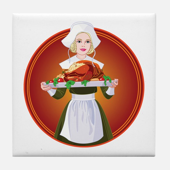 PILGRIM LADY Tile Coaster