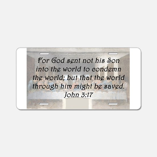 John 3:17 Aluminum License Plate