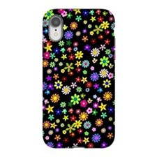 Colorful Flower Pattern iPhone XR Tough Case