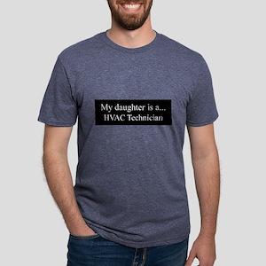 Daughter - HVAC Technician Mens Tri-blend T-Shirt