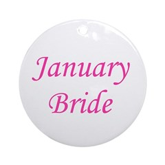 Januray Bride Ornament (Round)