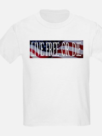 LIVE FREE OR DIE Kids T-Shirt