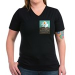 Women's V-Neck Colorful T-Shirts