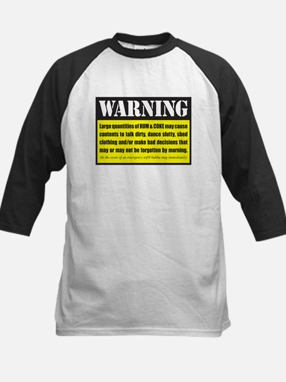 WARNING Rum & Coke Kids Baseball Jersey