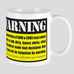 WARNING Rum & Coke Mug
