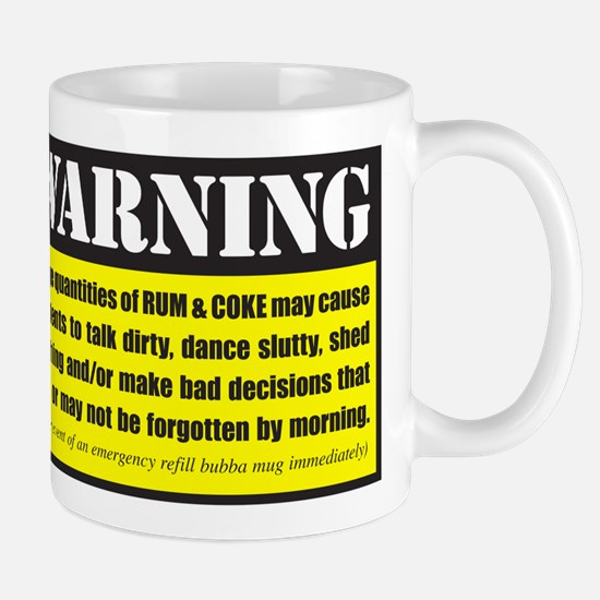WARNING Rum & Coke Mug