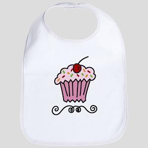 Pink Cupcake Bib