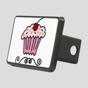 Pink Cupcake Rectangular Hitch Cover