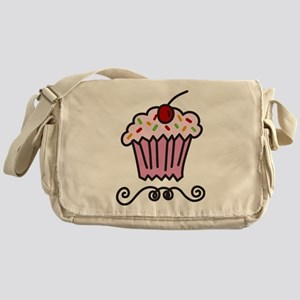 Pink Cupcake Messenger Bag