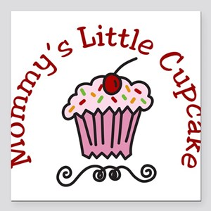 "Mommys Little Cupcake Square Car Magnet 3"" x 3"""
