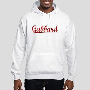 Gabbard, Vintage Red Hooded Sweatshirt