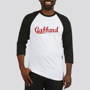 Gabbard, Vintage Red Baseball Jersey