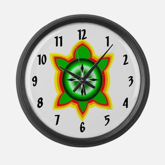 SOUTHEASTERN TRIBAL TURTLE Large Wall Clock