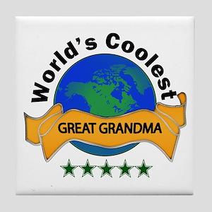 World's Coolest Tile Coaster