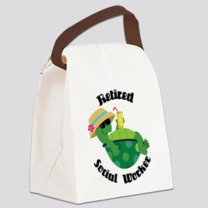 Retired Social Worker Gift Canvas Lunch Bag