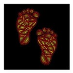 """Tribal Toes Square Car Magnet 3"""" x 3"""""""
