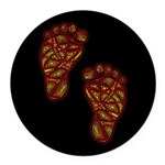 Tribal Toes Round Car Magnet