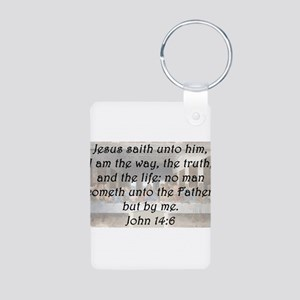 John 14:6 Aluminum Photo Keychain