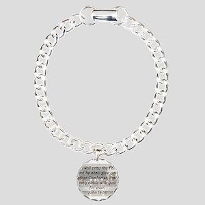 John 14:16 Charm Bracelet, One Charm