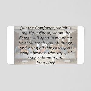 John 14:26 Aluminum License Plate