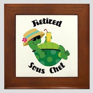 Retired Sous Chef Gift Framed Tile