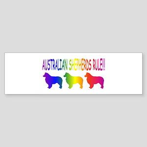 Australian Shepherd Dogs Sticker (Bumper)