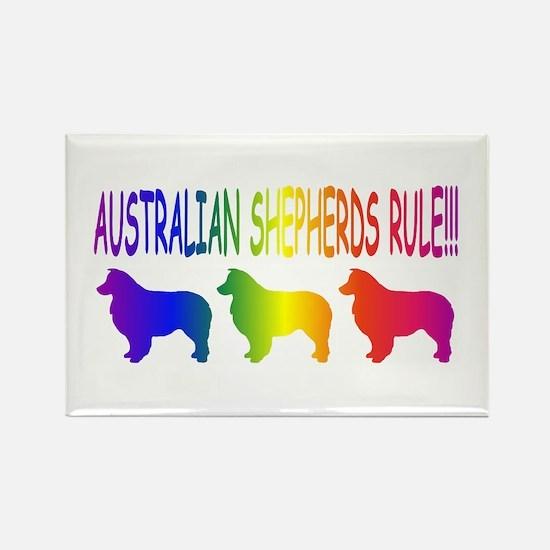 Australian Shepherd Dogs Rectangle Magnet